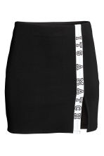 Short jersey skirt - Black - Ladies | H&M CN 2